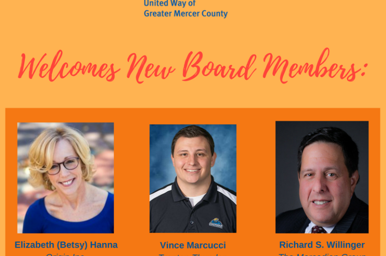 United Way of Greater Mercer County Announces New Board Members