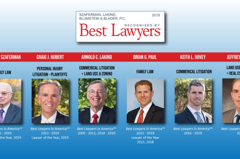 Szaferman Lakind Attorneys Listed Among The 2019 Best Lawyers in America