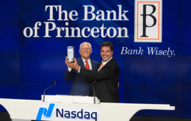 The Bank of Princeton rings the closing bell at Nasdaq