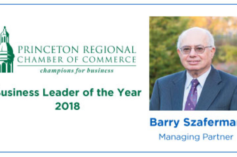 Managing Partner Barry Szaferman Chosen as the PRCC 2018 Business Leader of the Year