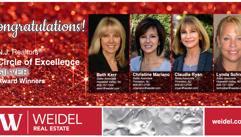 Congratulations to our Silver Level Winners of the NJ Realtors® Circle of Excellence Award®