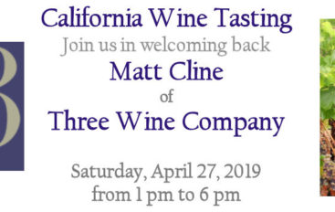 California Wine Tasting with Matt Cline of Three Wine Company at the Princeton Corkscrew