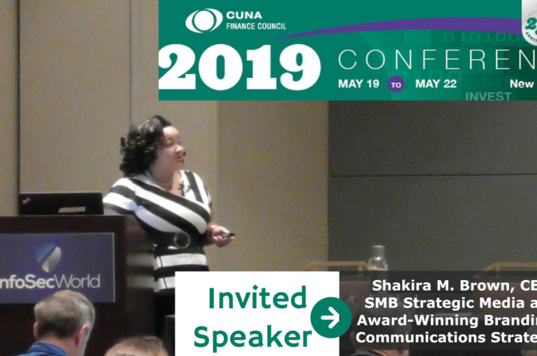 SMB Strategic Media LLC CEO Shakira M. Brown to Serve as a Speaker at 25th Annual CUNA Finance Council Conference in New York City