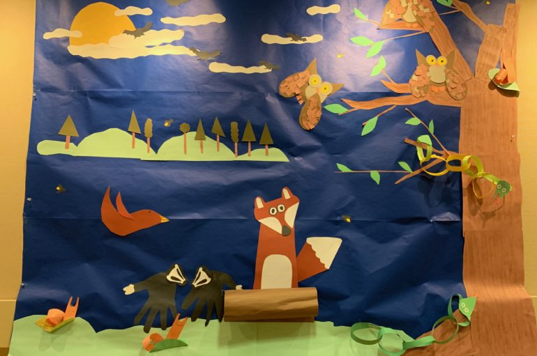 "Eden School Mural ""Wild Night"" @ DR Greenway Olivia Rainbow Gallery through May"