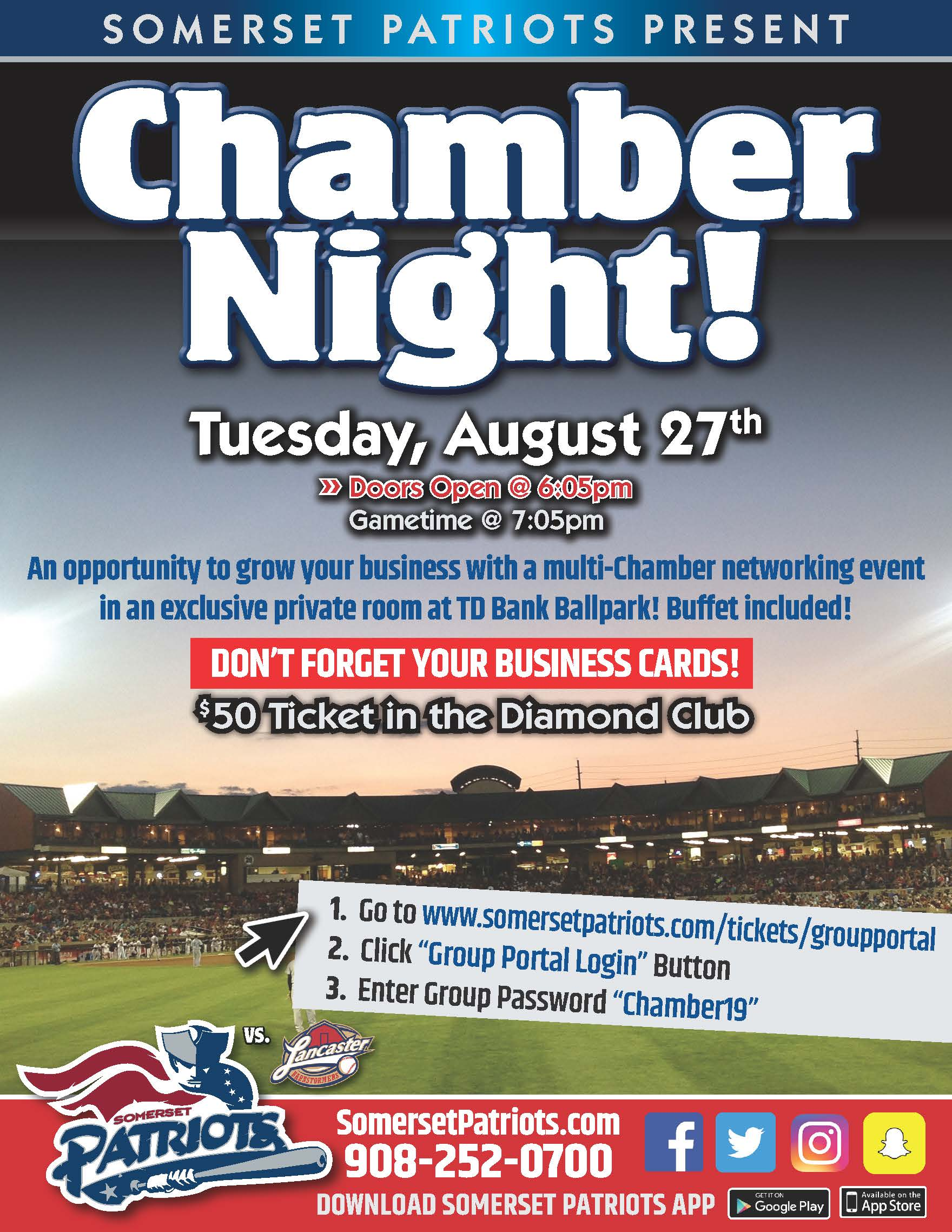 Somerset Patriots Multi-Chamber Networking Event – Princeton Mercer