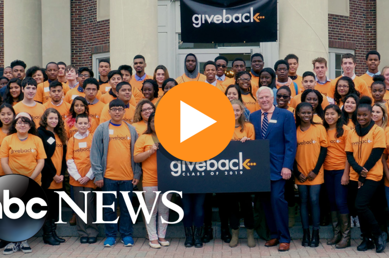 Watch Give Back Award 1000th Scholarship on ABC's 'World News Tonight'