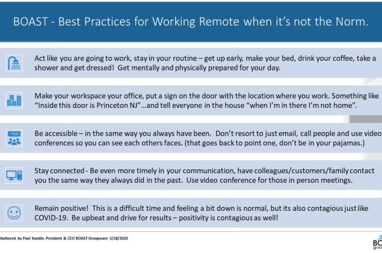 BEST Practices for working remote..when it's not the Norm!