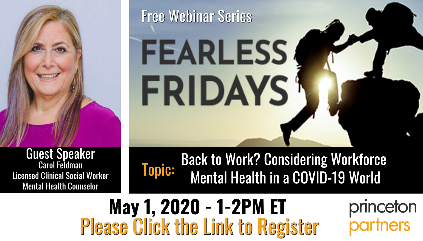 Free Webinar: Back to Work? Considering Workforce Mental Health in a COVID-19 World