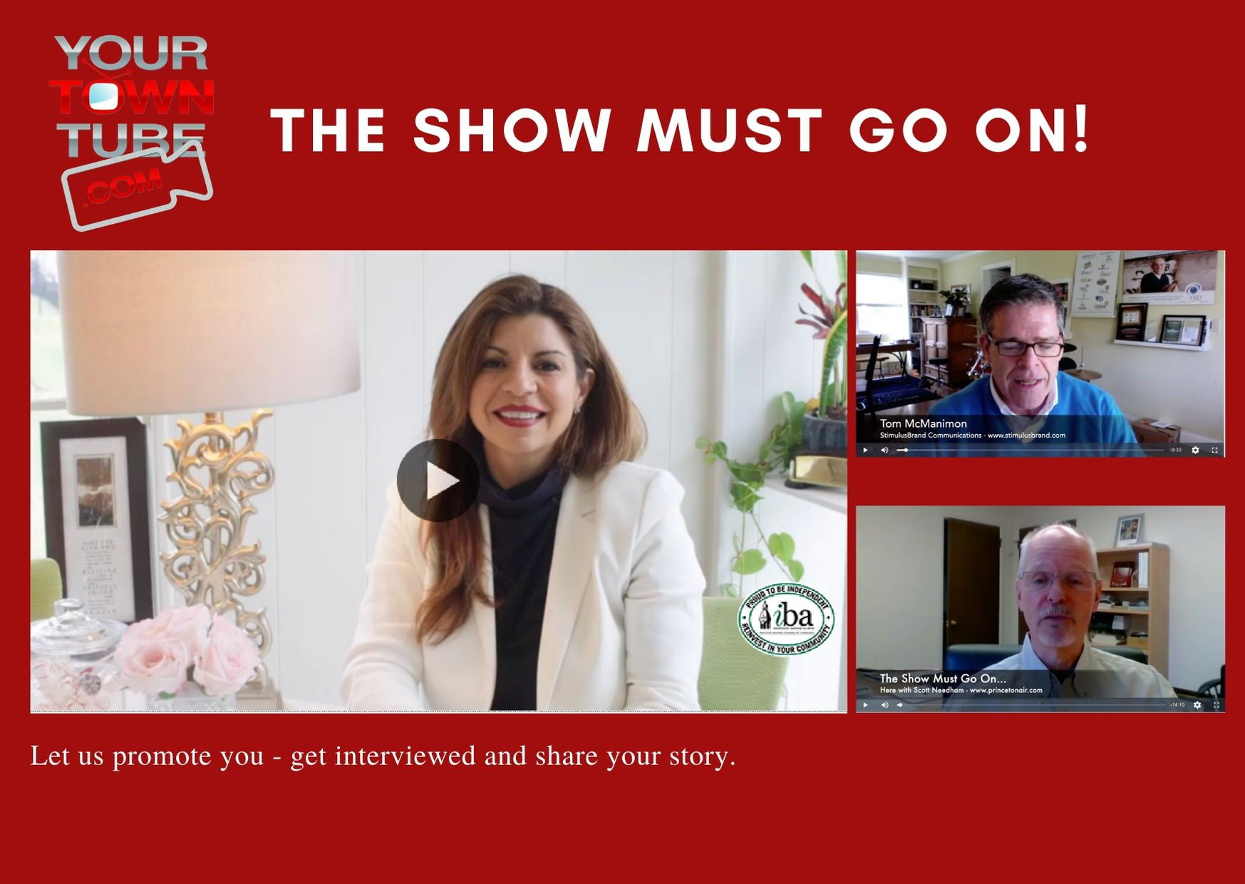 'The Show Must Go On' YourTownTube Complimentary Zoom Videos for Princeton Mercer Chamber Members.