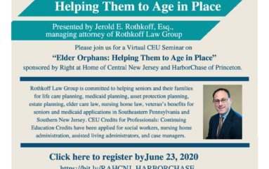 Elder Orphans: Helping Them to Age in Place