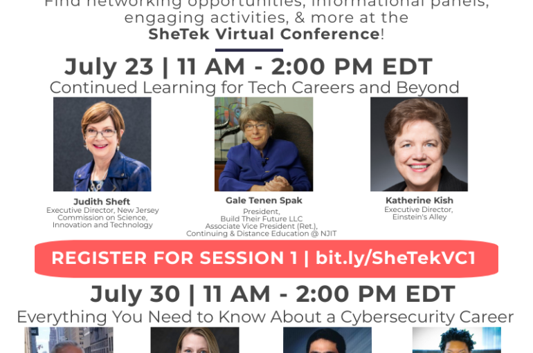 SheTek Presents a Two Day Virtual Conference for Women in Tech