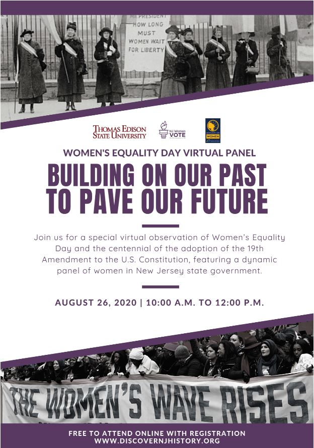 Women's Equality Day Virtual Panel: Building On Our Past To Pave Our Future