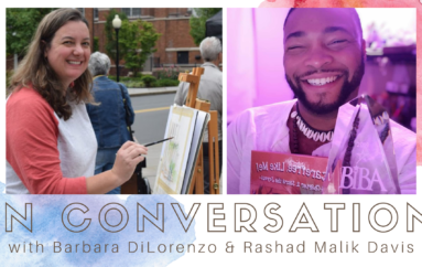 "The Arts Council of Princeton presents ""In Conversation"" with author-illustrators Barbara DiLorenzo and Rashad Malik Davis on Tuesday September 22, 2020"