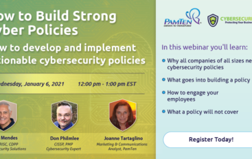 Start 2021 with Stronger Cybersecurity Policies Learn How at PamTen's Webinar