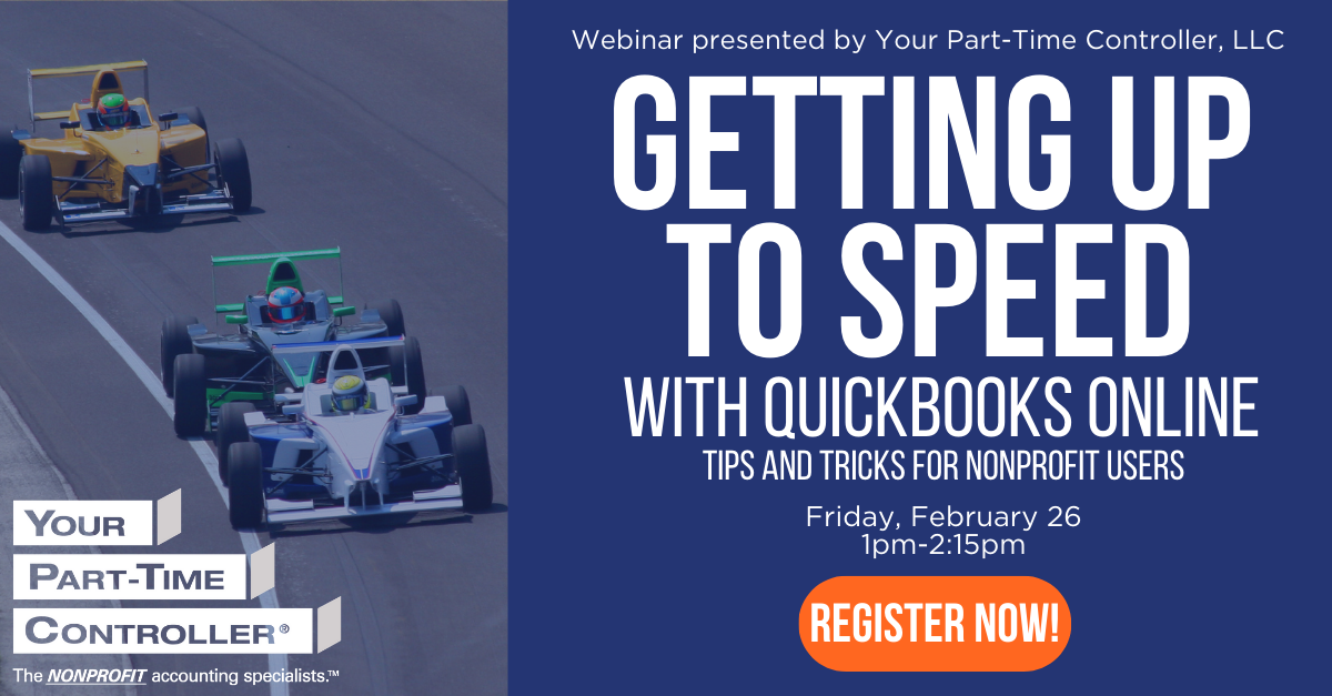 Getting Up to Speed with QuickBooks Online: February 26, 2021 1pm-2:15pm