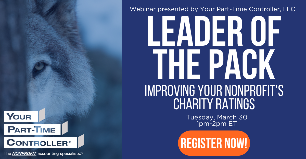 Leader of the Pack: Improving Your Nonprofit's Charity Ratings – Mar 30, 2021 01:00 PM