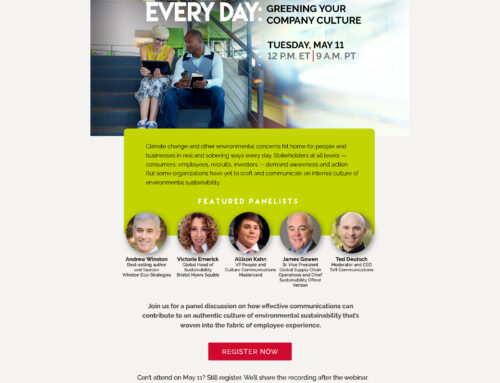 Webinar: Greening your company culture